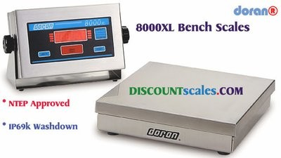 Doran 8100XL/12 Bench Scale  (100 lb. x 0.02 lb.)