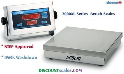 Doran 7100XL/15 Bench Scale  (100 lb. x 0.02 lb.)