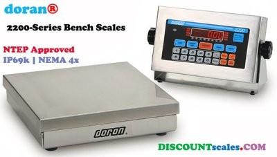 Doran® 22050/12 Bench Scale  (50 lb. x 0.01 lb.)