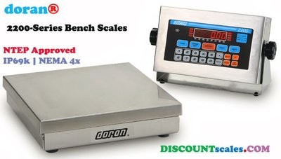 Doran® 22100/12 Bench Scale  (100 lb. x 0.02 lb.)