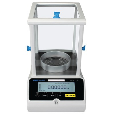 Adam SAB 125i Solis Analytical Balance  (62g./120g. x 0.01mg./0.1mg.)
