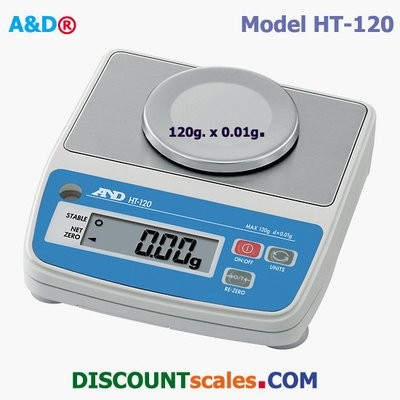A&D Weighing® HT-120 Scale  (120g. x 0.01g.)