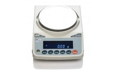 A&D Weighing® FX-3000iN NTEP Balance     (3200g. x 0.01g.)