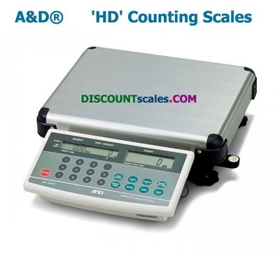 A&D HD-30KB Counting Scale   (60 lb. x 0.01 lb.)