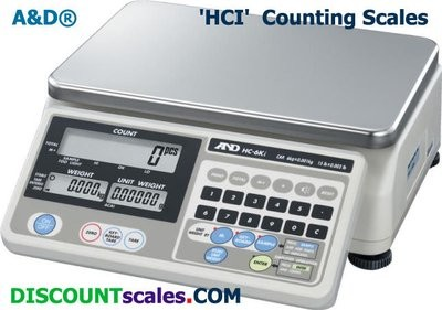 A&D Weighing® HC-30Ki Counting Scale (60 lb. x 0.01 lb.)