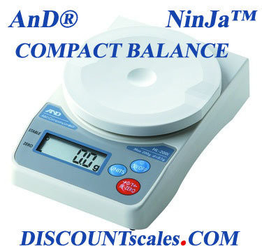 A&D Weighing® HL-2000i NinJa™ Portable Scale (2000g. x 1.0g.)