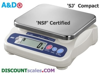 A&D Weighing® SJ-30KHS Food Scale     (66 lb. x 0.05 lb.)