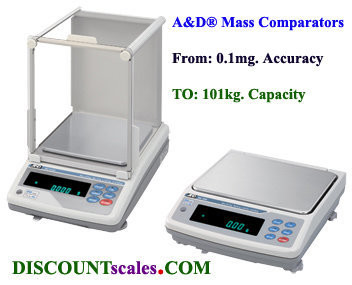 A&D Weighing® MC-6100S MASS COMPARATOR (6100g. x 1.0mg.)
