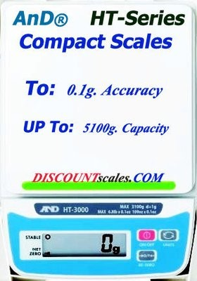 A&D Weighing® HT-3000 Scale      (3100g. x 1.0g.)