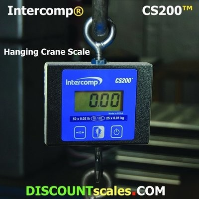 Intercomp® CS200 Model 100774 Crane Scale  (50 lb. x 0.02 lb.)