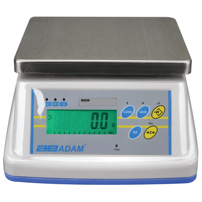 Adam Equipment® WBW 6aM Washdown Scale    (6.0 lb. x 0.002 lb.)