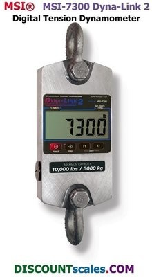 MSI® MSI-7300 2,500 lb. Digital Tension Dynamometer | Model 502967-0002  (2,500 lb. x 1.0 lb. )