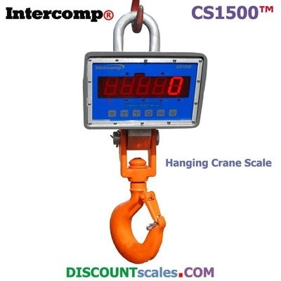 Intercomp® CS1500 Model 184515-RFX Crane Scale  (1000 lb. x 0.5 lb.)