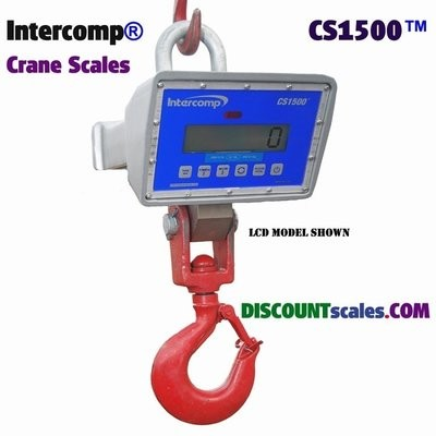 Intercomp® CS1500 Model 184500-RFX Crane Scale  (500 lb. x 0.2 lb.)