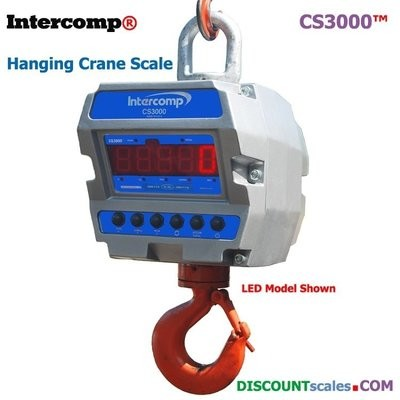 Intercomp® CS3000 Model 184760-RFX Crane Scale  (10,000 lb. x 2.0 lb.)