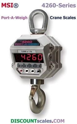 MSI® MSI-4260B 2,000 lb F/A Crane Scale  | Model 503413-0002  (2000 lb. x 1.0 lb.)