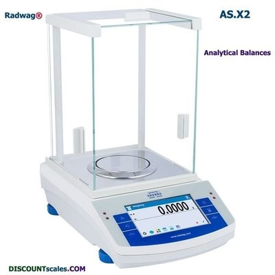 Radwag® AS 82/220.X2  Analytical Balance     (82g. x 0.01mg. + 220g. x 0.1mg.)