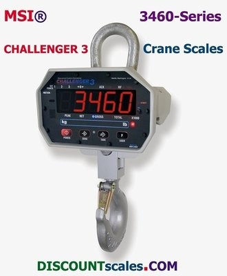 MSI® MSI-3460 1000/2000 lb cap F/A Crane Scale | Model MSI-502887-0002 (1000 lb. x 0.5 lb. + 2000 lb. x 1.0 lb. )