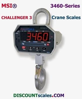 MSI® MSI-3460 1000/2000 lb cap F/A w/Remote Controller Crane Scale | Model MSI-502887-0006 (1000 lb. x 0.5 lb. + 2000 lb. x 1.0 lb. )