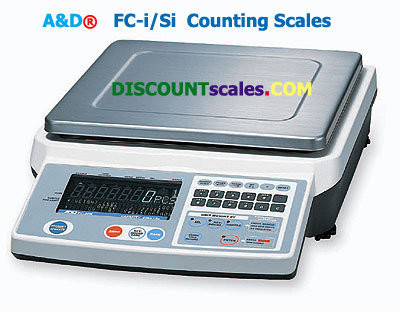 A&D Weighing® FC-500i Counting Scale  (500g. x 0.05g.)