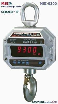 MSI® MSI-9300 10,000 lb F/A Crane Scale | Model 502654-0004 (10,000 lb. x 2.0 lb. )