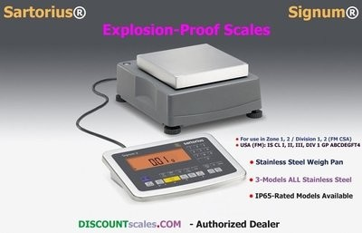 Sartorius® SIWXSBBP-V29 {SIWXSDCP-3-35-H} Explosion-Proof Scale (35Kg. x 0.1g.)