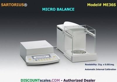 Sartorius® ME36S Micro Balance   (31g. x 0.001mg.)