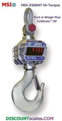 MSI® MSI-9300HT 30,000 lb F/A Crane Scale |  Model 502519-0001  (30,000 lb. x 10.0 lb. )