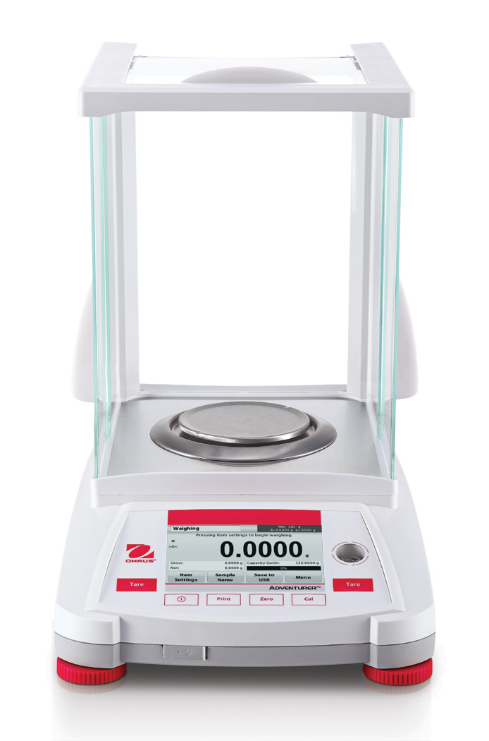 Ohaus AX224/E Analytical Adventurer Balance     (220g. x 0.1mg.)