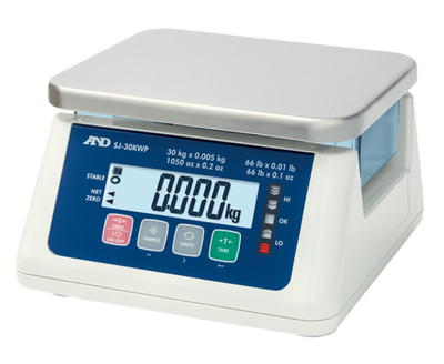A&D Weighing® SJ-3000WP Washdown Compact Scale  (6.6 lb. x 0.0002 lb.)