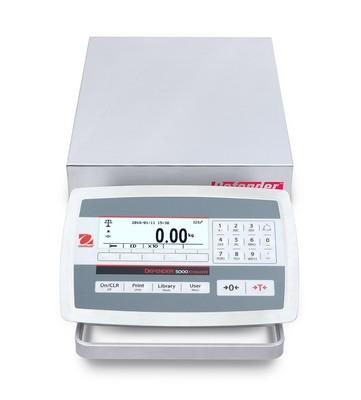 Ohaus® D52XW12WQS5 Defender™ 5000 Low-Profile Washdown Bench Scale  (25 lb. x 0.001 lb.)