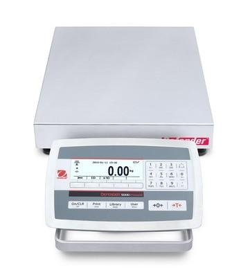 Ohaus® D52XW12WQR5 Defender™ 5000 Low-Profile Washdown Bench Scale  (25 lb. x 0.001 lb.)