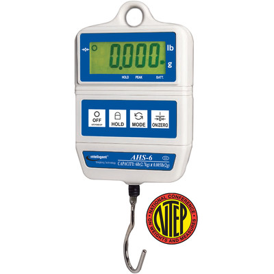 Intelligent Weighing® AHS-15 NTEP Digital Hanging Scale     (15 lb. x 0.01 lb.)