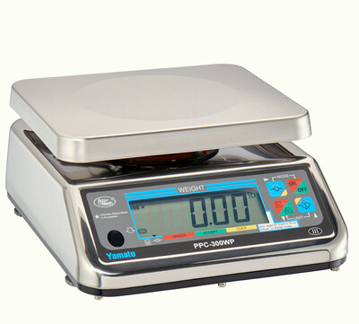 Yamato® PPC-300WP-22 Washdown Portion Control Scale (22 lb. x 0.01 lb.) -  'NTEP Approved' ONLY $409.97!