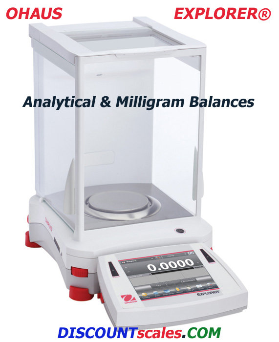 Ohaus EX124 Analytical Explorer Balance    (120g. x 0.1mg.)