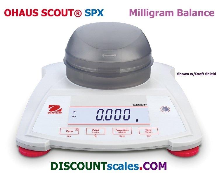 Ohaus SPX223 Milligram Scout Balance  (220g. x 0.001g.)