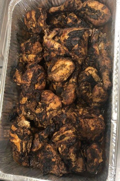 Full tray Jerk chicken