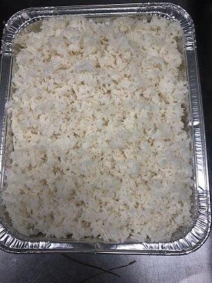 Half tray of White rice