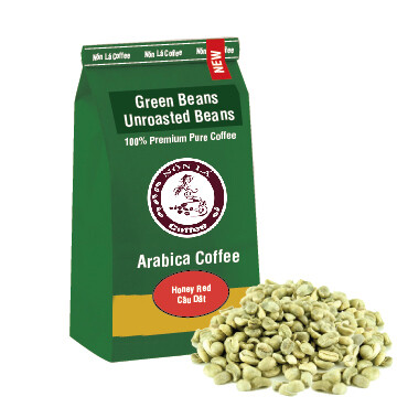 Arabica - Green Bean - Honey Red Tipica - Câu Dât