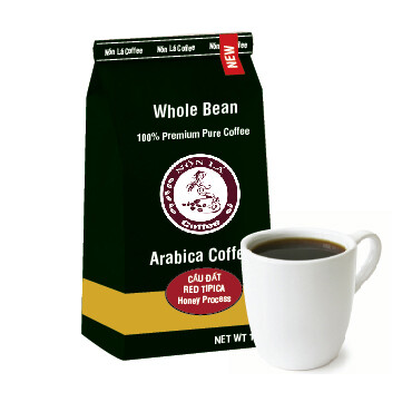 Cầu Đất Arabica. Honeyed Red Tipica - Whole Bean