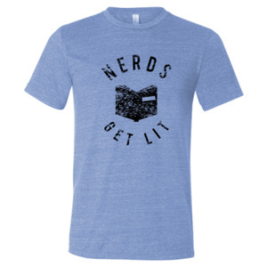 Blue Nerds Get Lit Shirt Large 00029