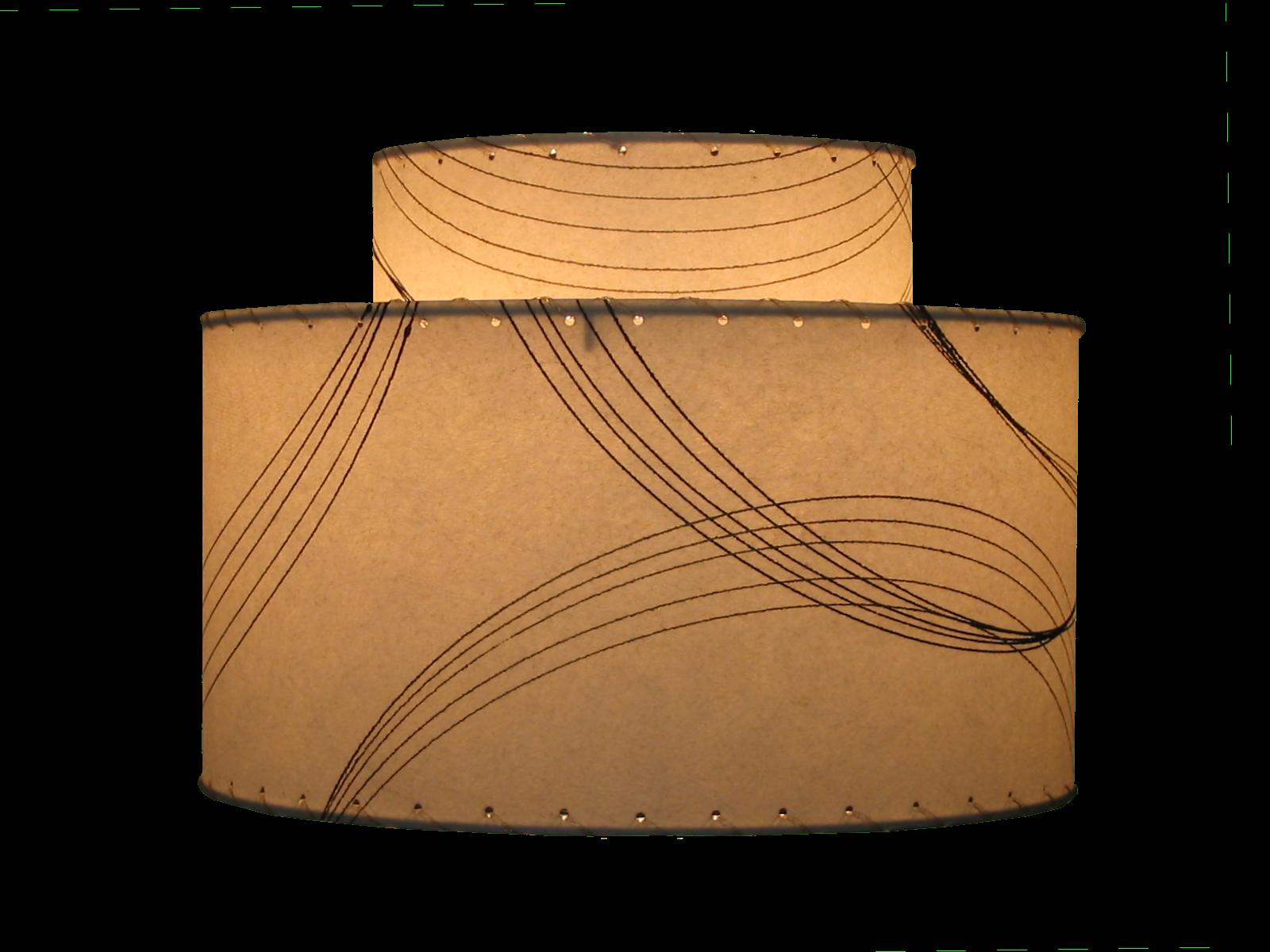 medium 2-tier shade lit
