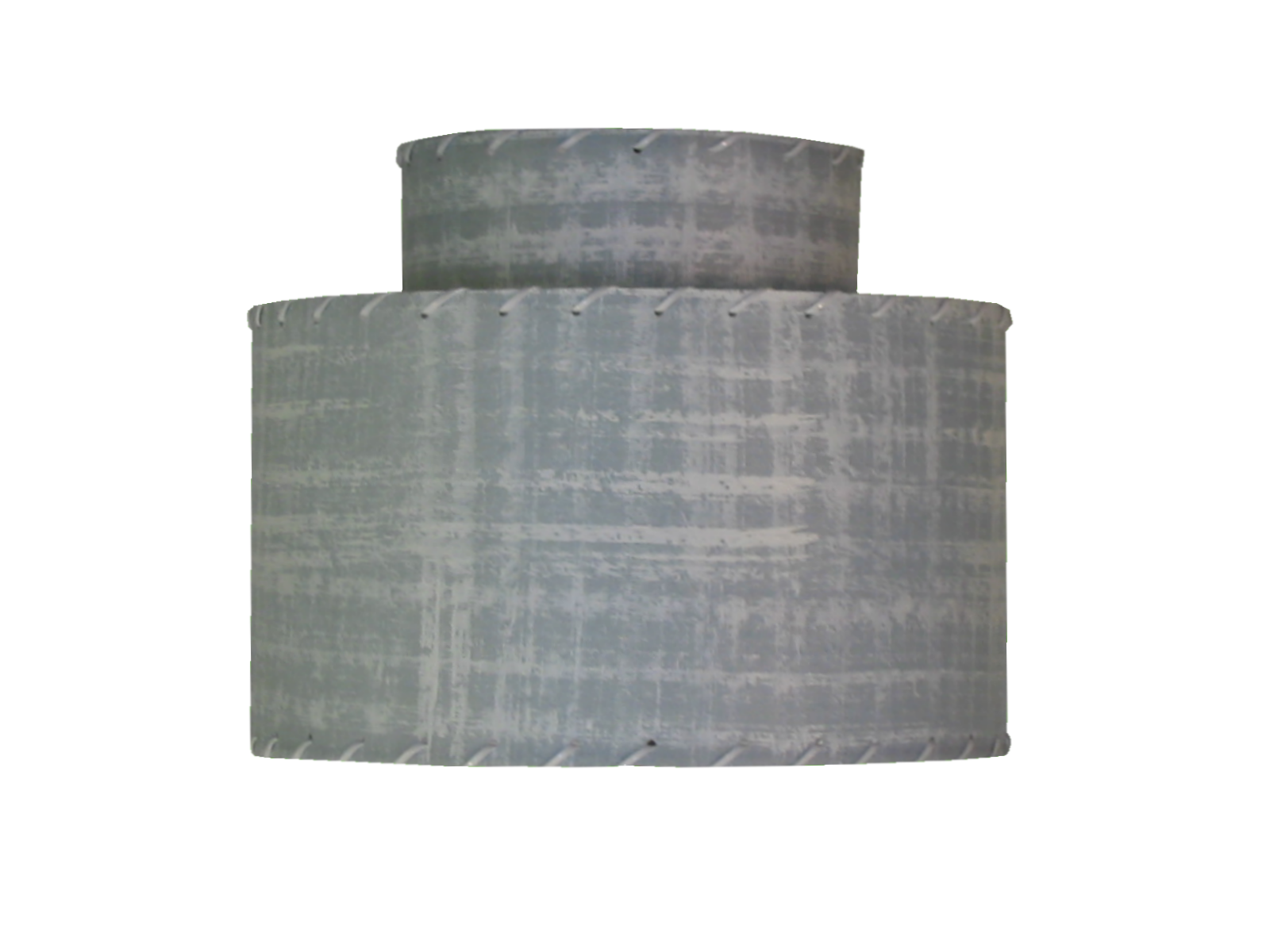 small 2-tier lampshade - blue gray