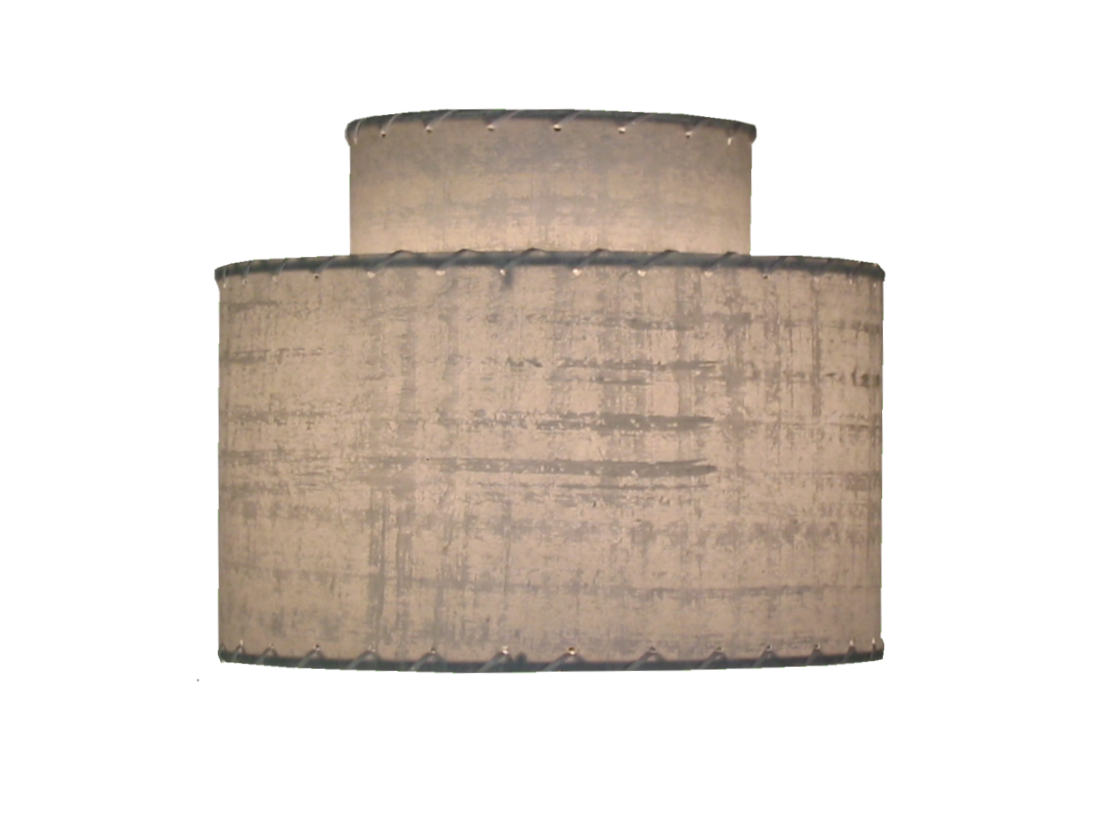 small 2-tier lampshade blue gray lit