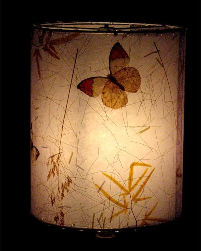 Limited Edition Butterfly Botancial Drum Lampshade - Ready to Ship