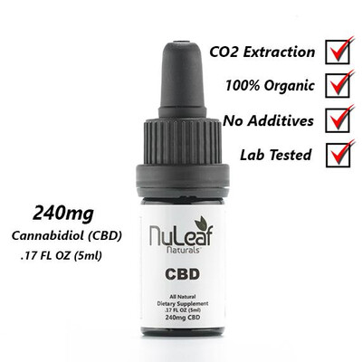 240 mg Full Spectrum CBD Oil, High Grade Hemp Extract (50mg/ml)