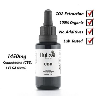 1450mg Full Spectrum CBD Oil, High Grade Hemp Extract (50mg/ml)