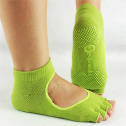 "Yoga Socks   ""open top"" ysm-sox-eb54--grn"
