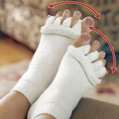 Yoga GYM Massage Open Five Toe Separator Socks Foot Alignment Pain Relief yhs-toemsg-FX