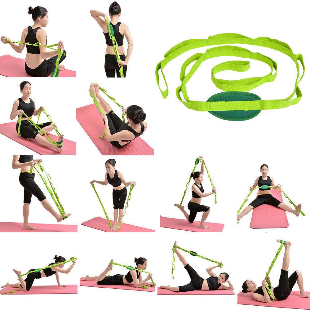 "Restore Multi-Grip 85""Yoga Stretch Strap Training Belt Waist Leg Fitness Flexibl"
